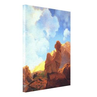 Maxfield Parrish Morning, Spring, Vintage Fine Art Canvas Print