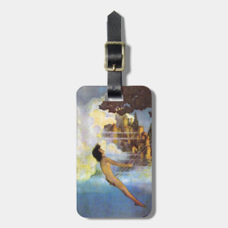 Maxfield Parrish The Dinky Bird Vintage Book Bag Tag