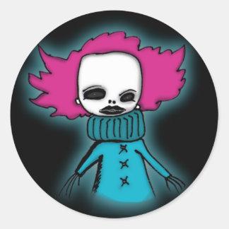 Maxi The Clown Round Sticker