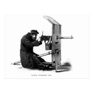 Maxim Automatic Gun Postcard