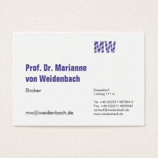 Maximally elegant largely business card
