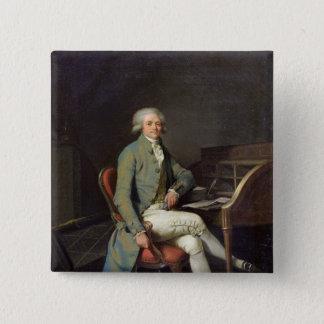 Maximilien de Robespierre 15 Cm Square Badge