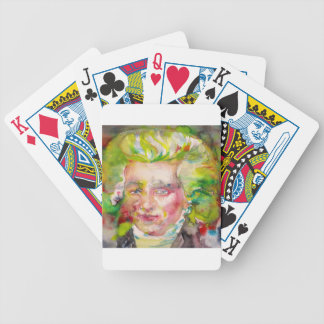 MAXIMILIEN ROBESPIERRE - watercolor on paper Bicycle Playing Cards