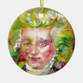 MAXIMILIEN ROBESPIERRE - watercolor on paper Ceramic Ornament