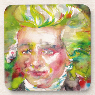 MAXIMILIEN ROBESPIERRE - watercolor on paper Coaster