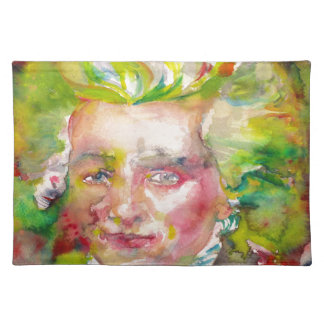 MAXIMILIEN ROBESPIERRE - watercolor on paper Placemat