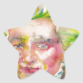 MAXIMILIEN ROBESPIERRE - watercolor on paper Star Sticker