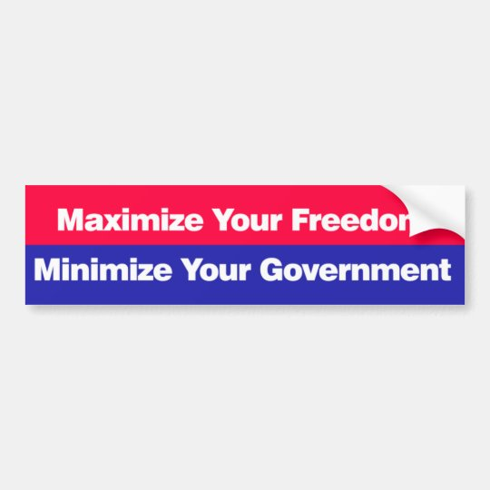 Maximise your freedom bumper sticker
