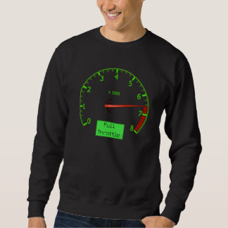 Maximum revs car mens sweatshirt