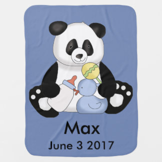 Max's Personalized Panda Baby Blanket