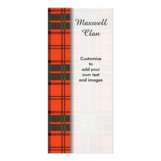 Maxwell clan Plaid Scottish tartan Personalized Rack Card