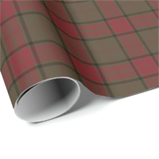 Maxwell Clan Weathered Hunting Tartan Wrapping Paper