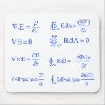 maxwell physics equation mouse pad