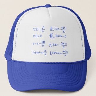 maxwell physics equation trucker hat