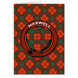 Maxwell Scottish Tartan Card