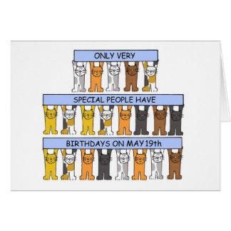 May 19th Birthday Cats Card