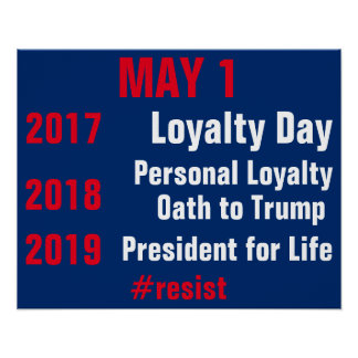 May 1 Loyalty Day Resist Persist Protest Poster