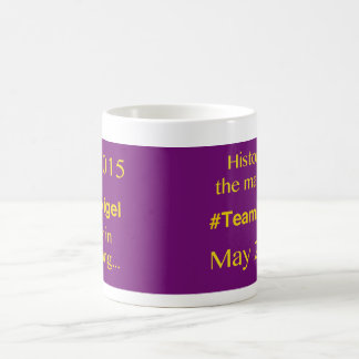 May 2015 election unique design mug! coffee mug