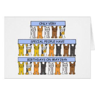 May 26th Birthday Cats Card