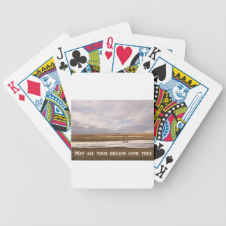 May all your dreams come true bicycle playing cards