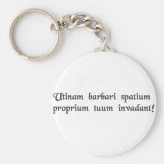 May barbarians invade your personal space key chains