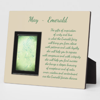 May Birthstone Emerald Plaque