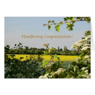 May Blossom Beltane Handfasting Congratulations Card