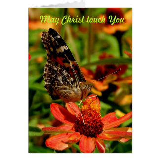 May Christ Touch You Card