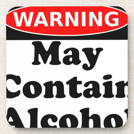 May Contain Alcohol Beverage Coasters