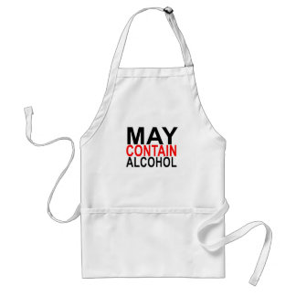 MAY CONTAIN ALCOHOL SHIRT '. STANDARD APRON
