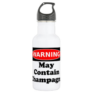 May Contain Champagne 532 Ml Water Bottle
