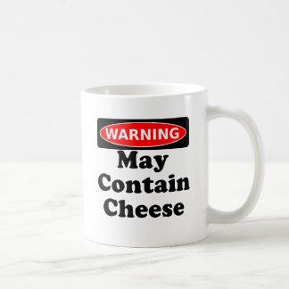 May Contain Cheese Basic White Mug