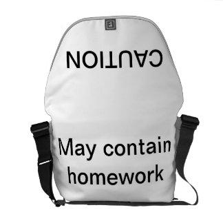 May Contain Homework messenger bag