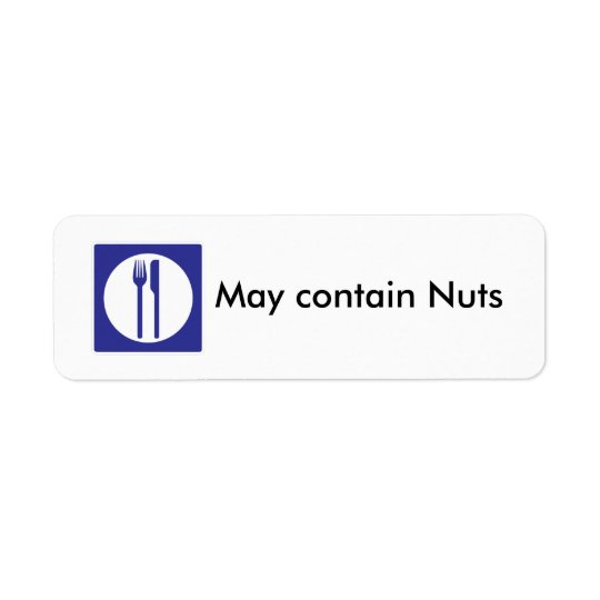 May Contain Nuts label