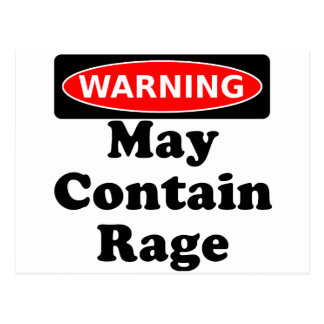 May Contain Rage Postcard