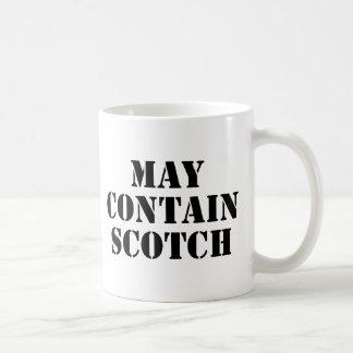May Contain Scotch Basic White Mug