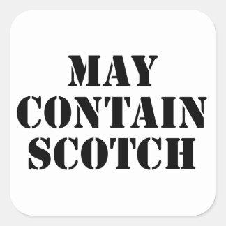 May Contain Scotch Square Sticker