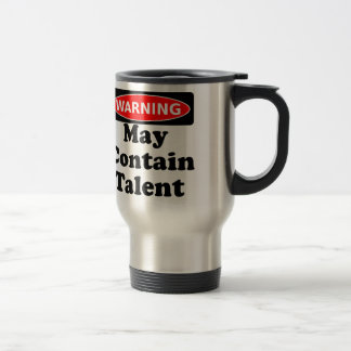 May Contain Talent Stainless Steel Travel Mug