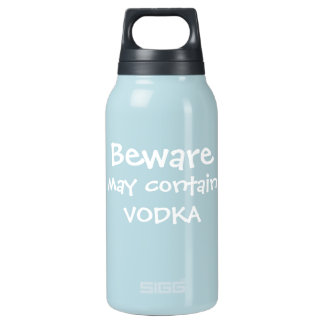 May Contain Vodka Insulated Water Bottle