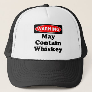 May Contain Whiskey Trucker Hat