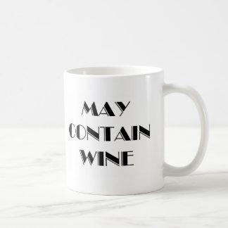 May Contain Wine Coffee Mug