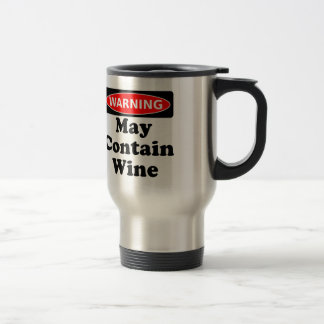 May Contain Wine Stainless Steel Travel Mug