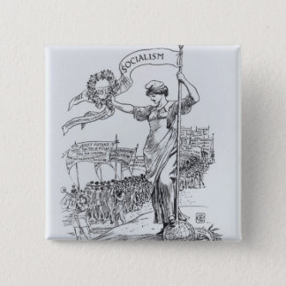 May Day, 1907 15 Cm Square Badge