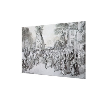 May Day at Bowdon, Cheshire Stretched Canvas Prints
