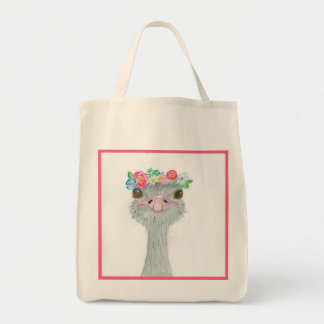 May Day Ostrich Grocery Bag