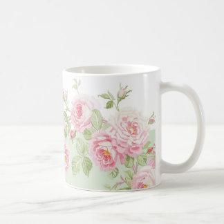 May Day Summer Roses basil stripe Coffee Mug