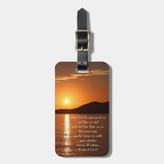 May God be Gracious to Us and Bless Us Psalm 67 Luggage Tag