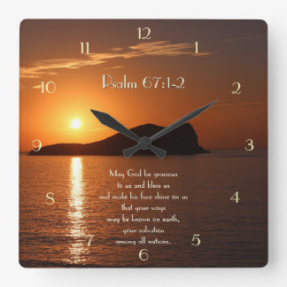 May God be Gracious to Us and Bless Us Psalm 67 Square Wall Clock