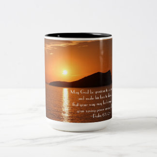May God be Gracious to Us and Bless Us Psalm 67 Two-Tone Coffee Mug