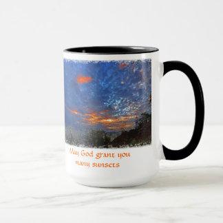 May God grant you many sunsets - Mug